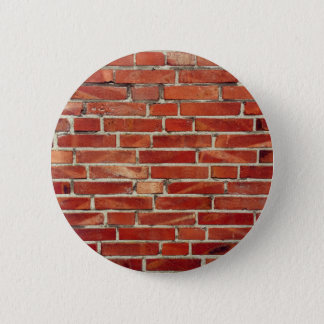 Red Brick Wall Texture 2 Inch Round Button