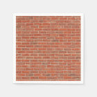 Red brick wall texture napkin