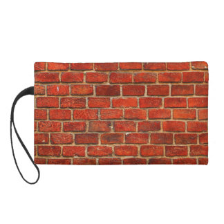 Red Brick Wall Texture Wristlets