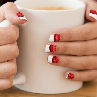 Red Brick with Snow Drift - Snowy Top Minx Nail Art