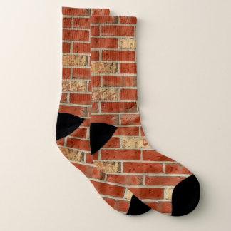 Red Bricks Crew Socks 1