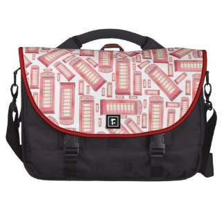 red british phone booth commuter laptop bag