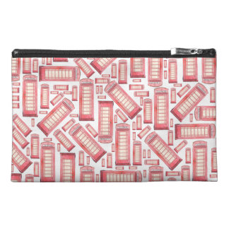 Red British phones pattern accessory bag