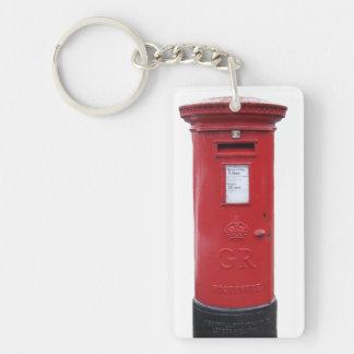 Red British Post box Single-Sided Rectangular Acrylic Keychain