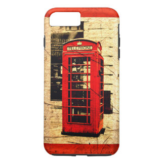 Red British Telephone Booth Red Border iPhone 7 Plus Case