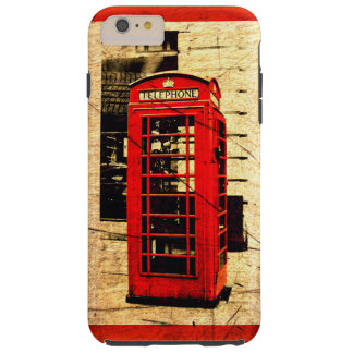 Red British Telephone Booth Red Border Tough iPhone 6 Plus Case