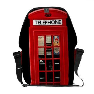Red British Telephone Box Messenger Bag