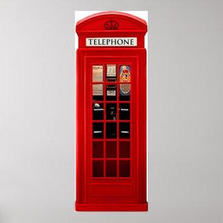 Red British Telephone Box Poster Print