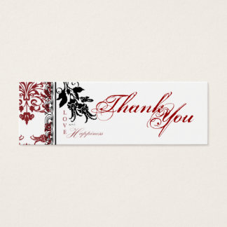Red Brocade TY Skinny Gift Tag