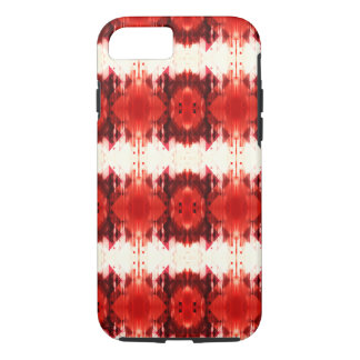 Red Brown And White Geometrical Pattern iPhone 8/7 Case