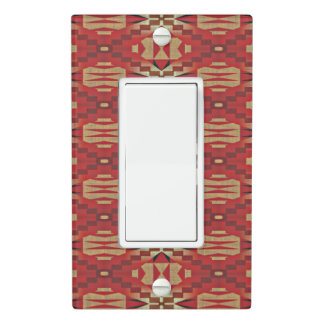 Red Brown Beige Orange Eclectic Ethnic Art Light Switch Cover