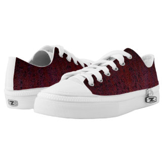 Red Brown Black Ombre Rust Metal Patina Low-Top Sneakers