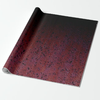 Red Brown Black Ombre Rust Metal Patina Wrapping Paper