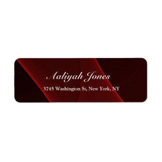 Red Brown Elegant Professional Creative Return Address Label