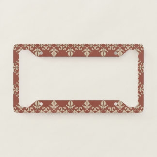 Red-Brown Florish License Plate Frame