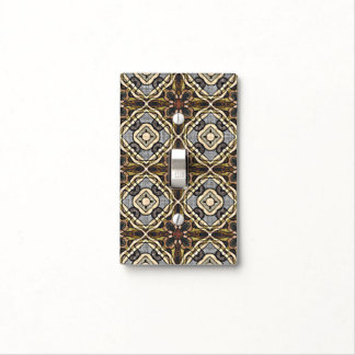 Red Brown Gray Ochre Hip Orient Bali Art Motif Light Switch Cover