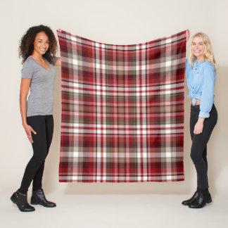 Red & Brown Plaid Fleece Blanket