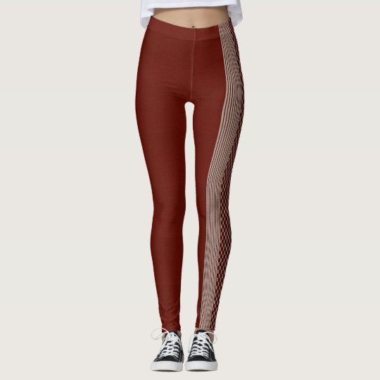 red-brown put-went with strips leggings