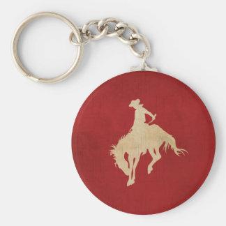 Red Brown Vintage Cowboy Keychain