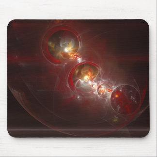 Red Bubble Fractal Design Mouse pad