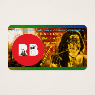 RED BUBBLE SK8N BUSINESS CARD