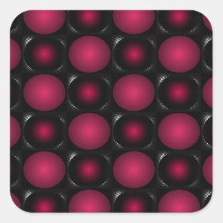 Red bubbles interesting unusual cricketdiane art square sticker