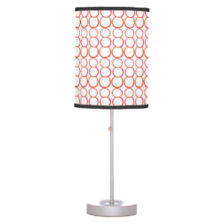 RED BUBBLES ON WHITE WITH BLACK TRIM LAMP