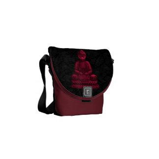 Red Buddha Pixel Art Messenger Bag