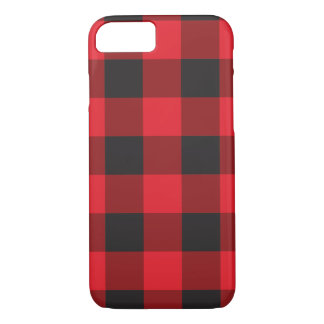 Red Buffalo Check iPhone 7 Case