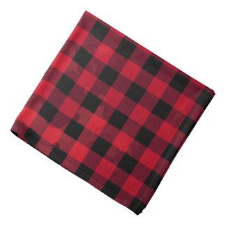 Red Buffalo Check Pattern Bandana