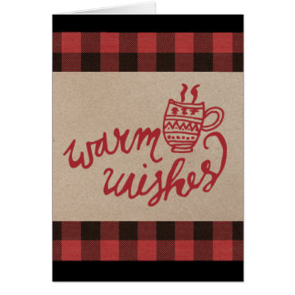 Red Buffalo Plaid Christmas Card