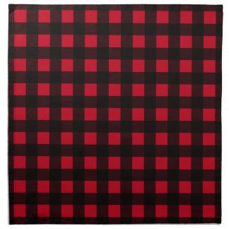 Red Buffalo Plaid Printed Napkin