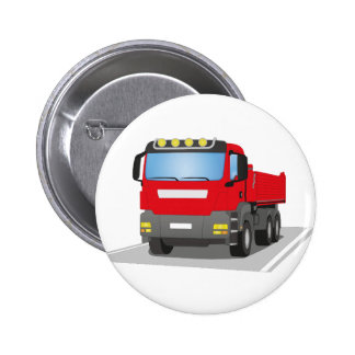 red building sites truck 2 inch round button