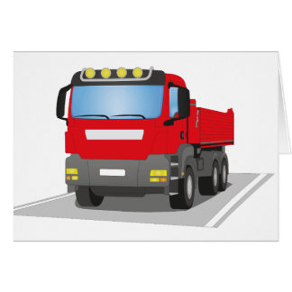 red building sites truck card