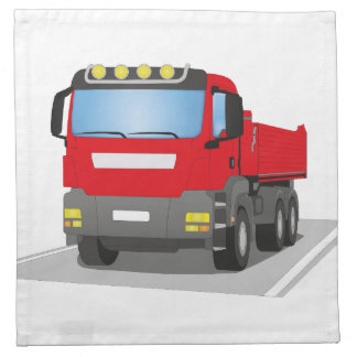 red building sites truck napkin
