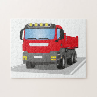 red building sites truck puzzles