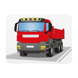 red building sites truck rectangular photo magnet
