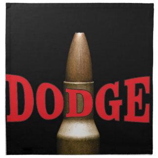 red bullet dodge spiral napkin