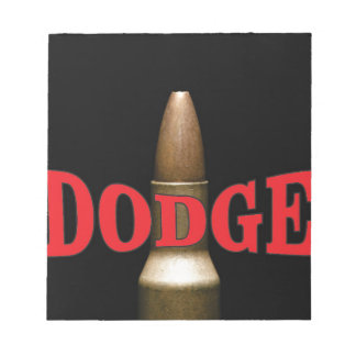 red bullet dodge spiral notepad
