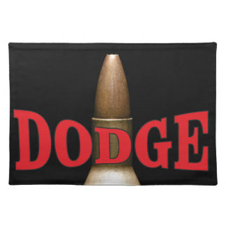 red bullet dodge spiral placemat