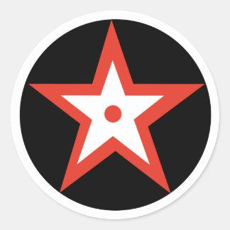 Red Bulls Eye star Sticker