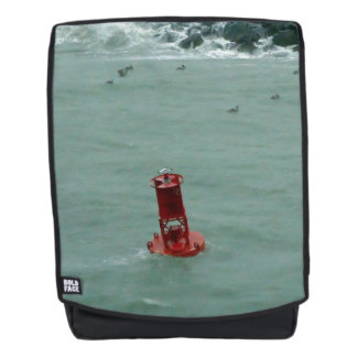 Red Buoy in a Stormy Sea