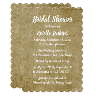 Red Burgundy And White Bridal Shower Wedding Card
