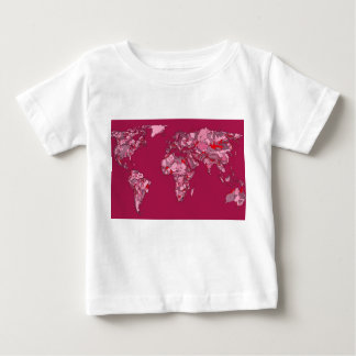 red burgundy earth map t shirts