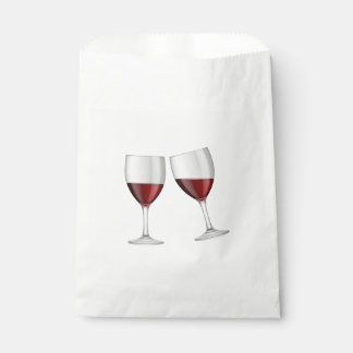Red Burgundy Wine Glasses Wedding Party Engagement Favour Bag