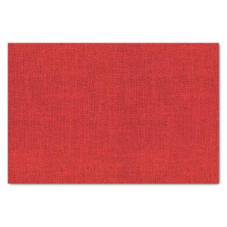 Red Burlap Texture Tissue Paper