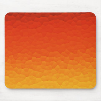 Red Burnt Orange to Gold Ombre Crackle Pattern Mouse Pad