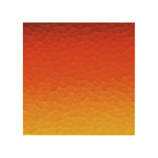 Red Burnt Orange to Gold Ombre Crackle Pattern Wood Canvases