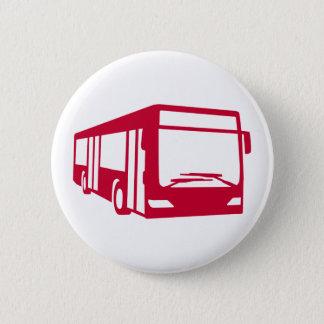 Red bus 2 inch round button