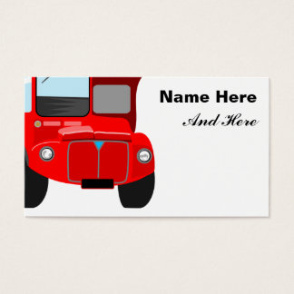Red Bus Business Card